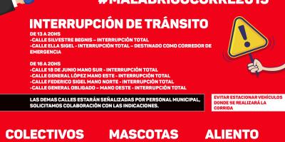 IMPORTANTE: Recomendaciones y avisos durante #MalabrigoCorre2019