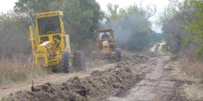 Continúan los trabajos en Camino Rurales