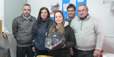 Se entregó el primer casco por nuevas Licencias de Conducir
