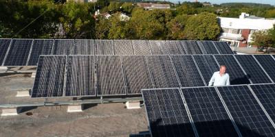 Finalizó la instalación del  Sistema Solar Fotovoltaico en el edificio municipal