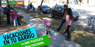"""Hoy continúa """"Vacaciones en tu Barrio"""" en Pelegrina"""