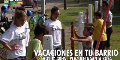 """Hoy comienza """"Vacaciones en tu Barrio"""" en Santa Rosa"""