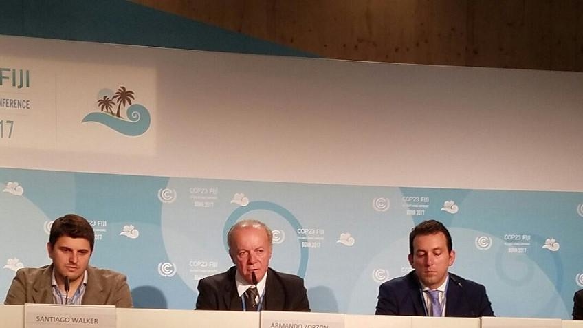 Amado Zorzón participó en la Conferencia de la ONU sobre cambio climático