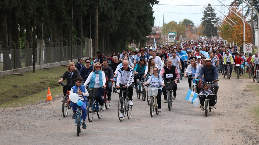 Más de 2800 participantes en la Bicicleteada 2018